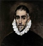 an elderly gentleman by el greco painting