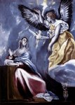 annunciation by el greco painting
