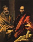 apostles peter and paul by el greco painting