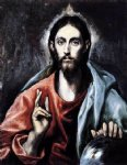 christ as saviour ii by el greco painting