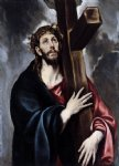 christ carrying the cross ii by el greco painting