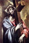 christ carrying the cross by el greco painting