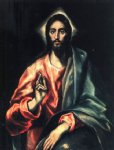 christ ii by el greco painting