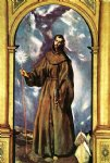 saint bernardino by el greco painting