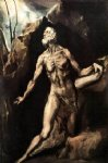 saint jerome penitent by el greco painting