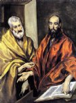 saints peter and paul by el greco painting