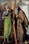 st andrew and st francis by el greco painting