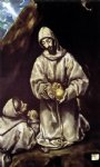 st francis and brother leo meditating on death by el greco painting