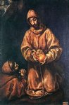 el greco st francis and brother rufus painting