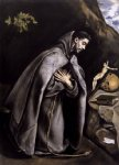 st francis meditating by el greco painting