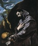 st francis praying by el greco painting