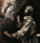 st francis receiving the stigmata by el greco painting