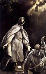 st francis s vision of the flaming torch by el greco painting