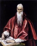 st jerome as a scholar by el greco painting