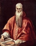 st jerome as cardinal by el greco painting