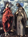st john the evangelist and st francis by el greco painting