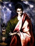st john the evangelist by el greco painting