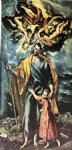 st joseph and the christ child by el greco painting