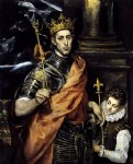 st louis king of france with a page by el greco painting