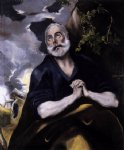 st peter in penitence ii by el greco painting