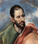 study of a man by el greco painting