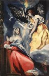 the annunciation 7 by el greco painting