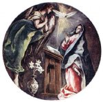 the annunciation by el greco painting