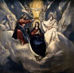 el greco the coronation of the virgin iii painting