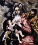 the holy family by el greco painting