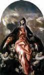 the madonna of charity by el greco painting