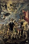 el greco the martyrdom of st maurice painting