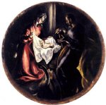 the nativity by el greco painting