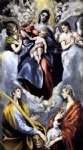 el greco the virgin and child with st martina and st agnes paintings