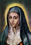 el greco the virgin mary ii painting