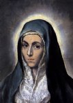 the virgin mary by el greco painting