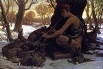 marsyas enchanting the hares by elihu vedder painting
