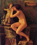the venetian model by elihu vedder painting