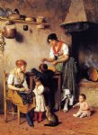 eugene de blaas mother s little helper painting