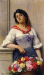 eugene de blaas the flower girl painting