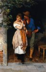 the suitor by eugene de blaas painting