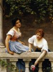 the unseen suitor by eugene de blaas painting