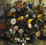 eugene delacroix bouquet of flowers painting 77729