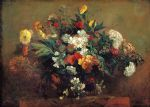 flower paintings - flowers by eugene delacroix