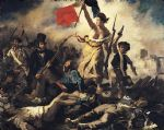 liberty leading the people by eugene delacroix painting