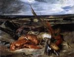 eugene delacroix still life with lobster painting