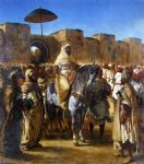 eugene delacroix the sultan of morocco and his entourage painting