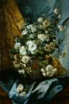 still life of chrysanthemums by eugene henri cauchois painting