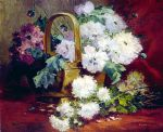 eugene henri cauchois still life of flowers in a basket painting 82792