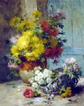 eugene henri cauchois still life of summer flowers painting 82794