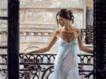 balcony at buenos aires by fabian perez painting